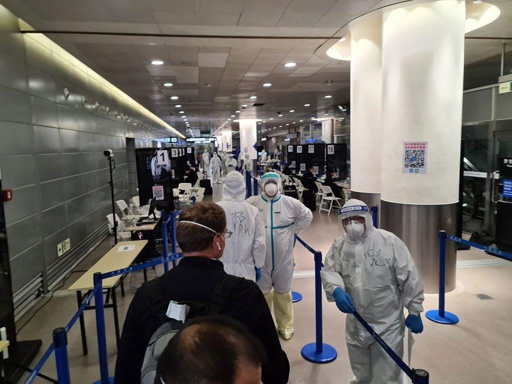 Covid 19 Aéroport Shanghai